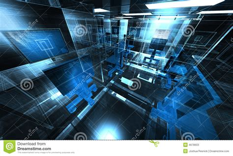 A Frame Building Plans by 3d Technology Office Illustration Stock Photos Image