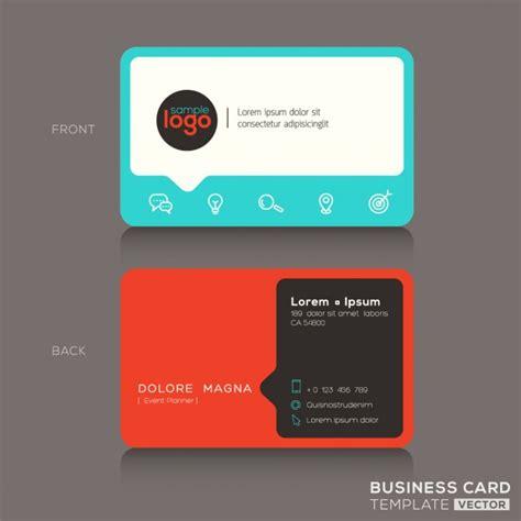 mit business card template moderne modische visitenkarte design vorlage