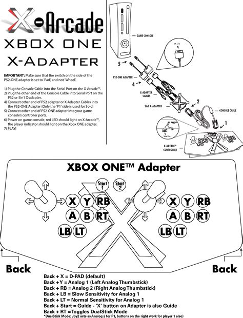 game instructions layout xbox one adapter button layout and instructions xgaming