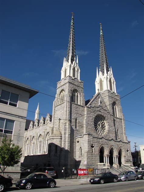st pauls church slate steeples  rustic stone san