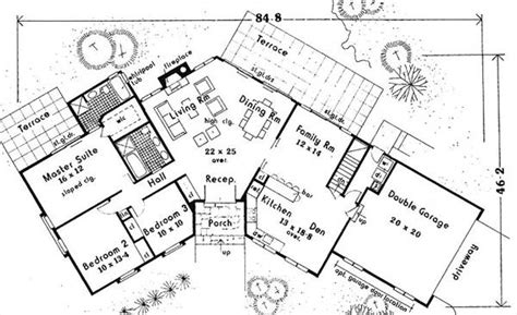 open space floor plans open space ranch 6991 3 bedrooms and 2 5 baths the house designers