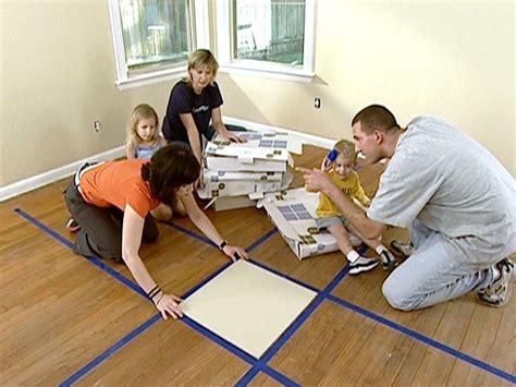 How To Install Rug by How To Install Carpet Tiles Hgtv