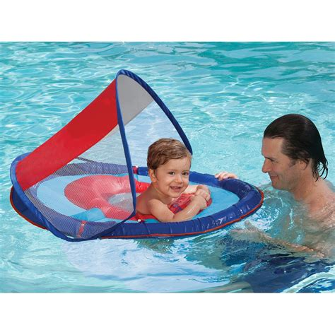 swimways baby spring and sun canopy swimming pool float