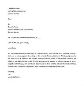 tenant eviction letter template 7 eviction letter templates free sle exle format