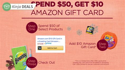 Stockists Of Amazon Gift Cards - amazon will give you a 10 gift card when you spend 50 on