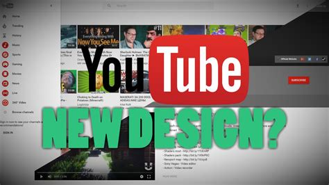 youtube new layout 2016 new youtube design layout 2016 youtube