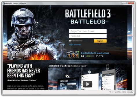 anyone else t login to battlelog battlefield 4 realmware s bf3 tools bf3 settings editor bf3 borderless and battlelog standalone