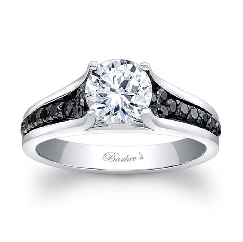 barkev s black engagement ring 7698lbk