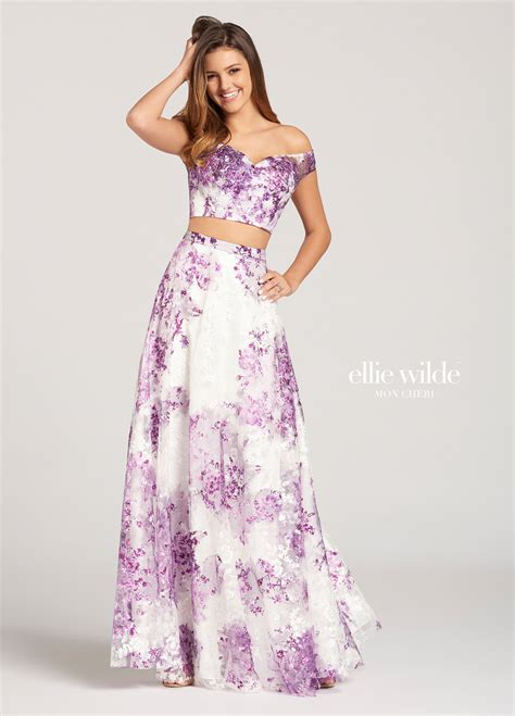 Shoulder Printed A Line Dress two the shoulder printed lace a line prom dress