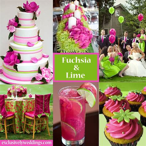 fuchsia and lime wedding exclusivelyweddings weddingcolors wedding color stories in 2019