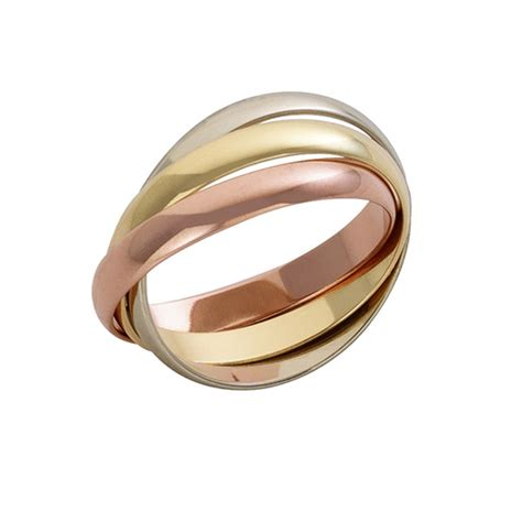 18ct gold 3 colour russian wedding ring 18ct gold 3