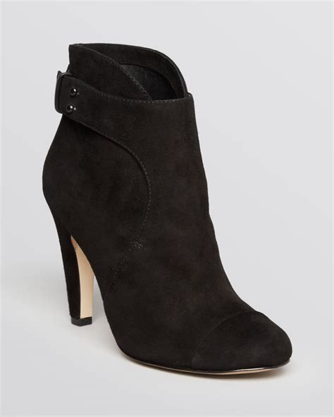 black suede high heel booties connection dress booties rosa high heel in black