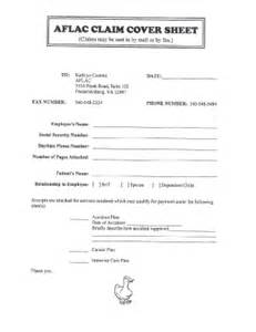 aflac fax cover sheet fill online printable fillable