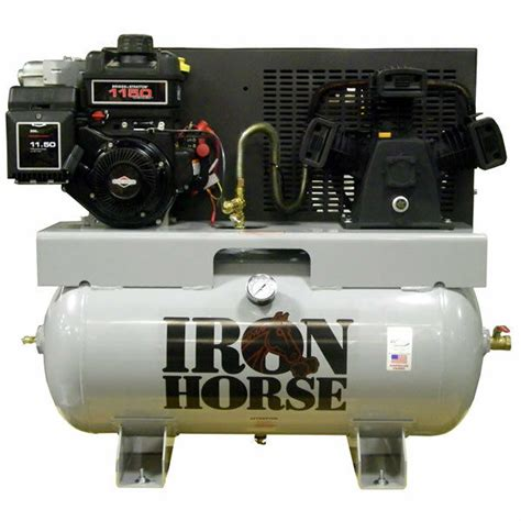 iron 8 hp 30 gallon single stage truck mount air compressor ebay