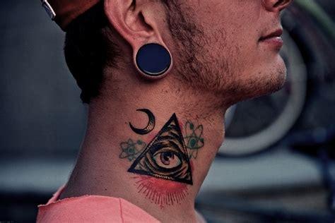 illuminati tattoo on neck illuminati eye tattoo images designs