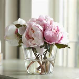 Peonies In Vase Birch Lane Faux Pink Peony Arrangement Small Birch Lane