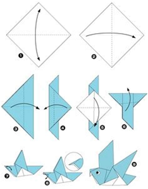 How To Make Bird With Paper Folding - step by step how to make origami a bird