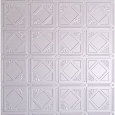 Ceiling Tile Dimensions by Global Specialty Products Dimensions 2 Ft X 2 Ft White Tin Ceiling Tile For Refacing In T Grid
