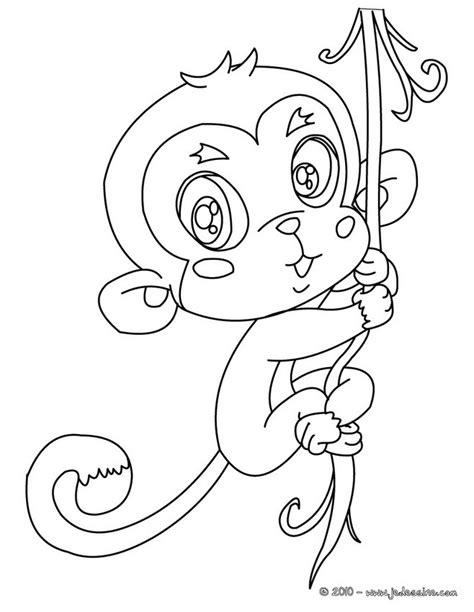 cute monkey coloring pages coloring part 3 coloriages coloriage d un b 233 b 233 singe fr hellokids com