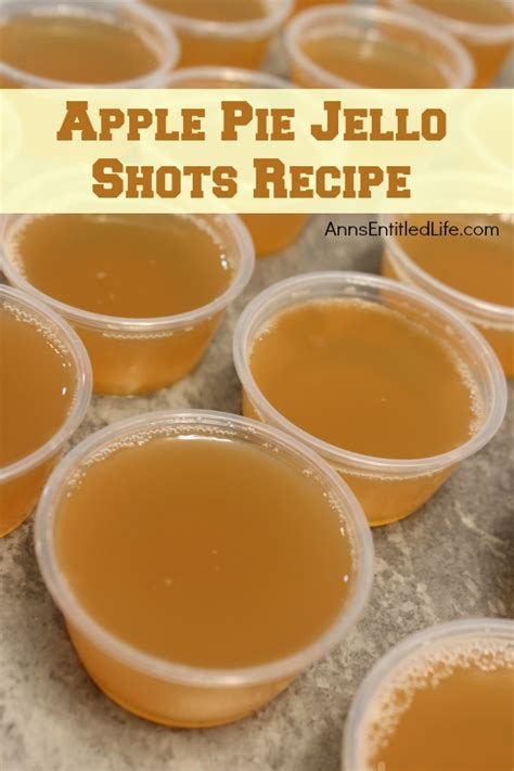 apple pie jello shots recipe