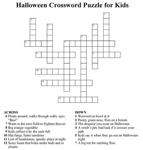 4 best images of halloween easy printable crossword 1000 images about halloween activities on pinterest