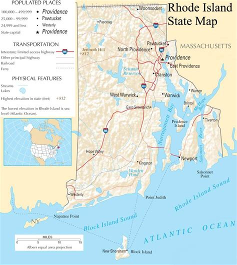 map of ri rhode island images