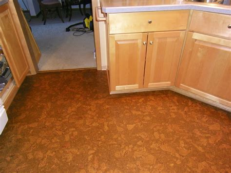 cork kitchen flooring afreakatheart