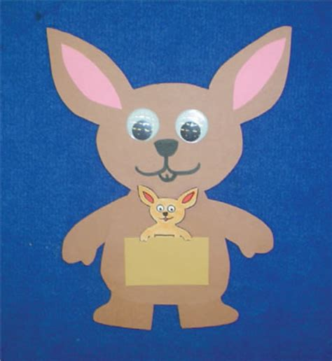 kangaroo paper craft preschool programs chapter tslac