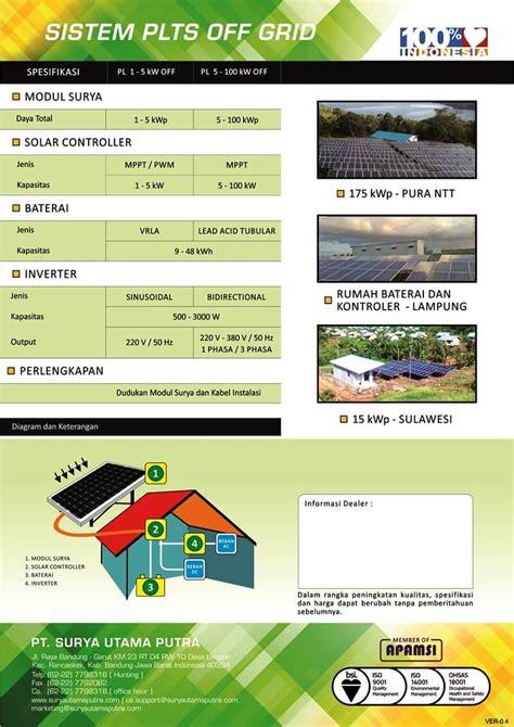 Kalkulator Office 10 Digit Energi Tenaga Solar Surya sistem plts grid pt surya utama putra