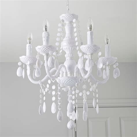 b q chandelier wickham white 5 l pendant ceiling light departments diy at b q