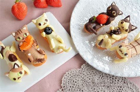 cute desserts these darling cat shaped desserts from japan are almost