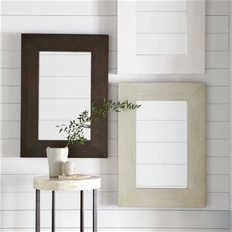 chunky wood wall mirror west elm bath ideas juxtapost