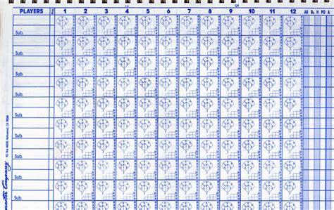 baseball scorecard template printable baseball scorecard template pictures to pin on