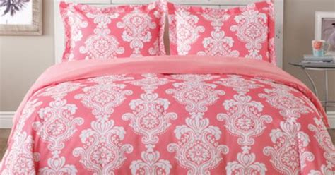 Bright Pink Comforter by Hilfiger Bright Pink Green Damask 3p Comforter Set