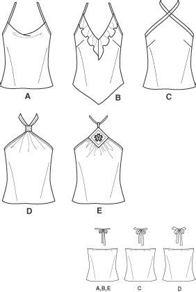 pattern drafting halter top new look 6491 misses bias halter tops