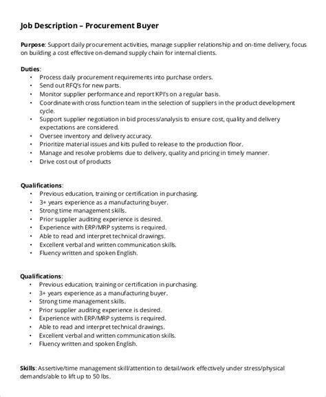 buyer description sle buyer description 10 exles in pdf word