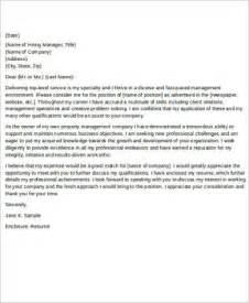 property management cover letter property management cover letter sles property