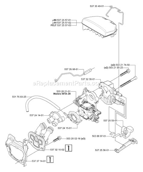 husqvarna 455 rancher parts list and diagram 2006 02