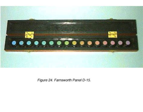 farnsworth d 15 color vision test webvision color perception