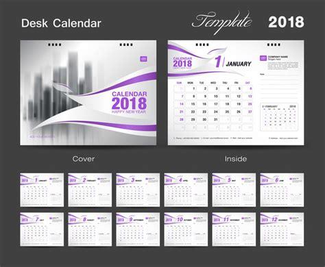 2018 desk calendar purple vector vector calendar free