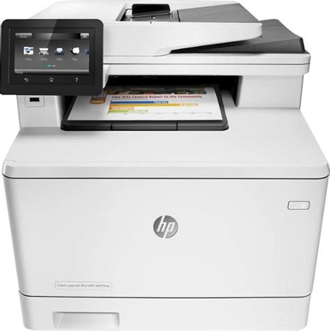 best all in one color laser printer hp laserjet pro mfp m477fnw color all in one printer white
