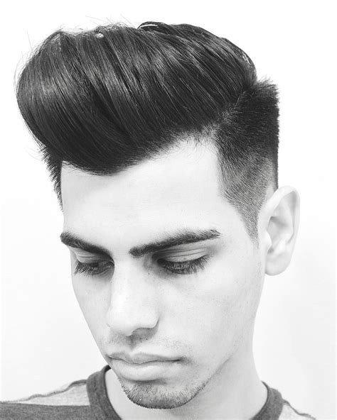 Pomp Hairstyle by Pompadour Fade Haircuts