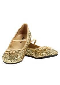 Details about girls gold glitter ballet flats