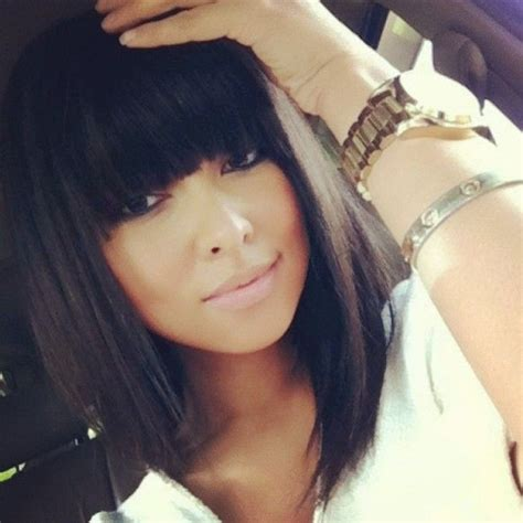 the perfect style for black girl straight hair simple 12 coolest black hairstyles with bangs pretty designs