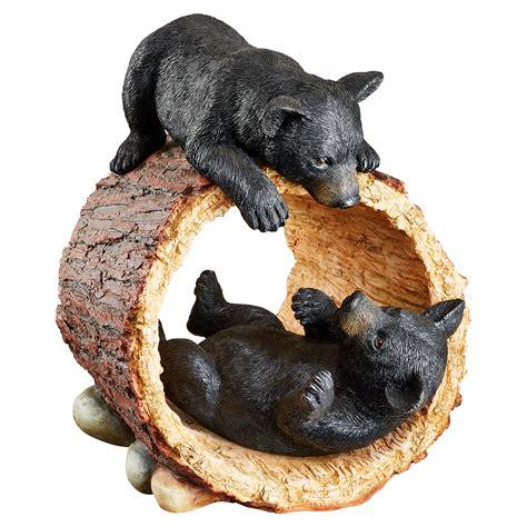design toscano rough play bear cubs garden statue garden