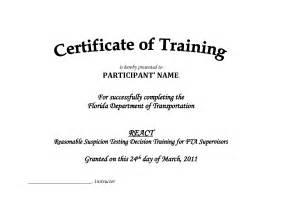 training certificate template pdf blank certificates
