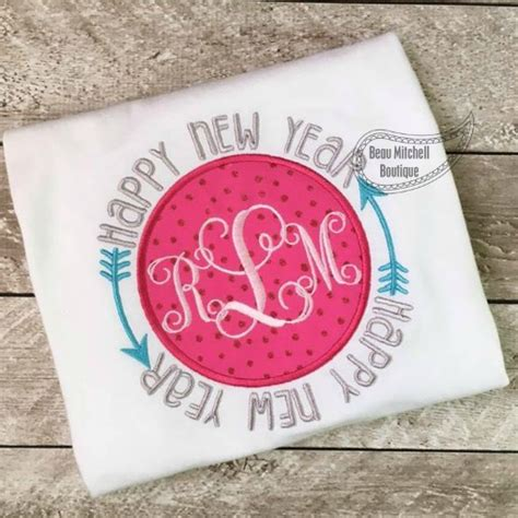 Happy New Year From Calliope Boutique by Happy New Year Circle Applique Beau Mitchell Boutique
