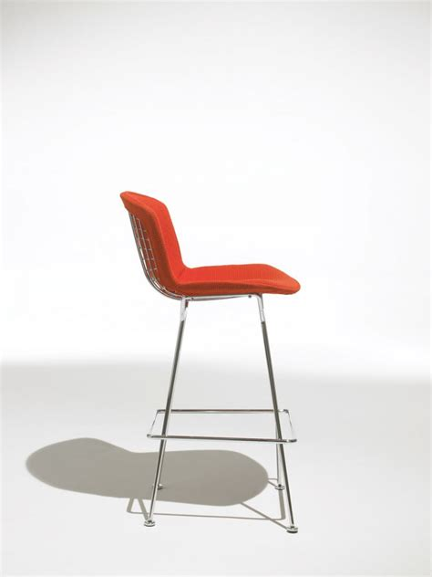 bertoia bar stool seat cushion bertoia bar height stool with cushion by knoll the