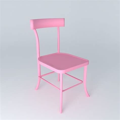 Pink Bistro Chair Pink Chair Bistrot Houses The World 3d Model Max Obj 3ds Fbx Stl Dae Cgtrader