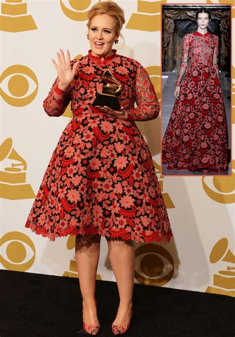adele grammys dress 2013 see the singer s red carpet look perfect outfit